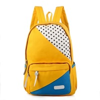 2013 new canvas zipper backpacks student school bag women's canvas handbags.