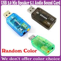 10 pcs/Lot_Virtual 5.1-Surround USB 2.0 External Sound Card_Free Shipping