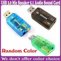 10 pcs/Lot_Virtual 5.1-Surround USB 2.0 External Sound Card_Free Shipping