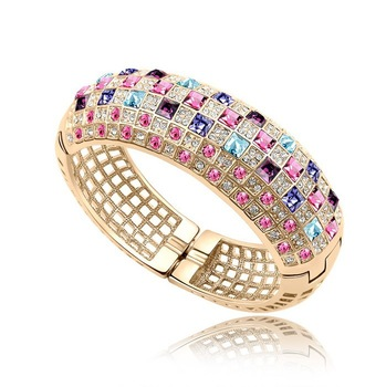 Multicolor Luxurious queen Bracelet (Niceter N8084)   Austria Crystal Bangles , Accessories designer 2013 , Free Shipping .