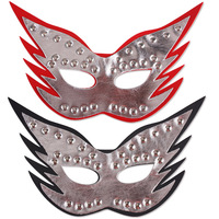 Fireboats blindages dance party mask performance props imitation leather mask novelty mask