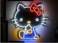 Big size Hello kitty neon light signs need custom