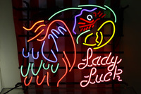Luck lady large colored parrot neon lighted signs bar supplies 50*40cm
