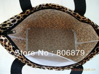 Leopard waterproof fabric cute Shunv Bao mixed batch casual bag hand bag lunch bag lunch bag small