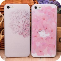 Colored drawing 5 small fresh  for apple   protective case i5 new arrival ultra-thin female iphone5 phone case
