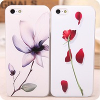 New arrival Embossed colored drawing protective ultra-thin mobile phone case  for apple iphone 5