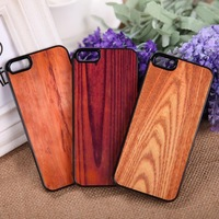 Colored drawing wood grain mobile protective phone case for apple iphone5