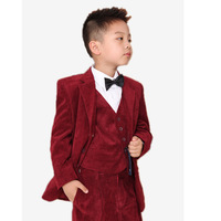 Six set formal child suit Corduroy children's clothing male child blazer set