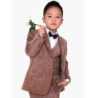 Spring and autumn children's suit casual formal blazer corduroy boy suit