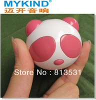 500ma Australian plug USB charger+Portable mini Speaker Fashion panda Speaker for mp3/mp4/ PC/ PSP