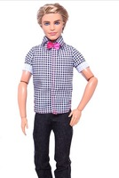 2014 fashion girls barbie doll ken baby boy firend  30cm tall gold hair baby doll christmas gift brinquedos toys  free shipping