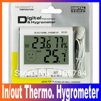 LCD Digital In/Out Thermo. Temperature Humidity Meter Hygrometer thermometer DC 103 Freeshipping