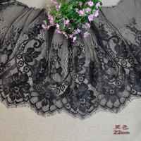 Black flower lace decoration eyelash laciness accessories 22cm 1 3