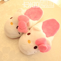 slippers kt three-dimensional bow at home casual slippers floor quieten slippers home slippers