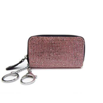 Genuine leather key wallet chain full diamond rhinestone crystal rhinestone car key wallet coin purse keychain