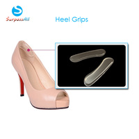 Free Shipping 5Pair/Lot Silicone Back Heel Liner Gel Cushion Pads Insole High Dance Shoes Grip