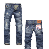 2013 New Arrival Men's Jeans Hot Sale Fashion Jeans Size 28-40,#B1013 Fitness Denim Jeans  Famous Brand Free Shipping