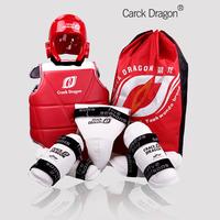 Hot sale Adult child thickening taekwondo flanchard full set of five pieces set molding helmet protective bag