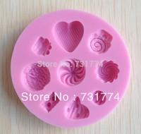 1PCS Love baby shape Chocolate Candy Jello 3D silicone Mold Cartoon Figre/cake tools Soap Mold Sugar craft Cake Decoration CC087