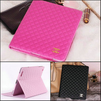Deluxe smart stand pu leather case for ipad2 ipad3 ipad 4 with brand logo case,DHL/ EMS free shipping
