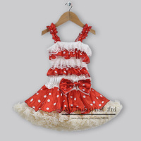 Halloween And Chirstmas Children Clothing Ready Stock Girl Party Dress Red Dots Tutu Dress for Toddle TD30721-4
