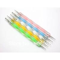 Best Selling!Random Colors Steel Marble Dotting Pen Nail Art Decoration Tool 10 pcs/lot Free Shipping