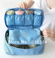 Free shipping New Arrival Retail Cheap Nylon Foldable Orgnizer Bag in Bag Women Underwear Organizer Bag