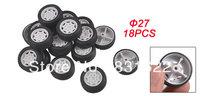 Repairing Part 27mm Dia Rubber Roll Plastic Core Toy Auto Car Wheels 18 Pcs