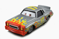 Free shipping Pixar Cars 2 Metal Darrell Cartrip #17 Piston Sliver Diecast Toy loose