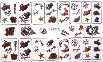 Watermark nail art applique finger water transfer printing nail art accessories nail art supplies finger sticker w series