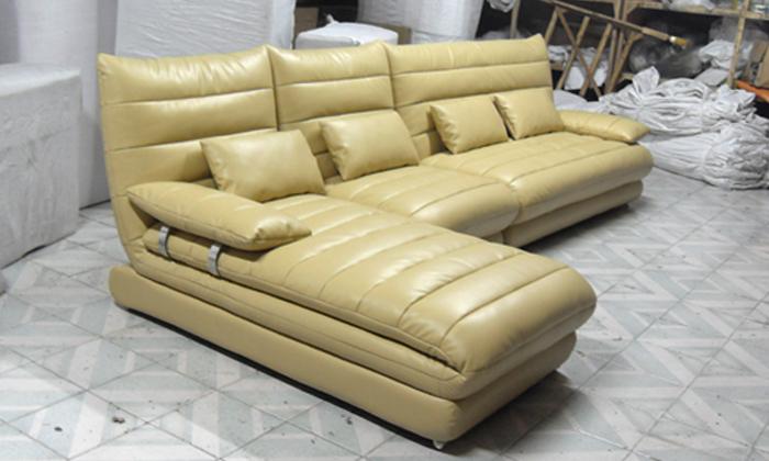 European style Sofa Latest Italy Design Multi - Combination Genuine Leather L Shaped Corner Sofa for Living Room L9079-3(China (Mainland))