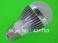 E14 E27 B22 GU10  9W LED bulbs, dimming bubble bulb AC85 - 265V,  silver shell color, warm / cool white , 3 * 3W + Free shipping