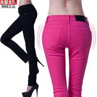 2013 spring pencil pants casual pants plus size denim multicolour basic skinny pants