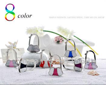 Free shipping New Arrived 1 PC Fashion Bag Design Handbag Folding Bag Purse Hook Hanger Holder Wedding Gift  8 Colors