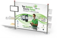 Free shipping-Turn & Lock poster stand (Backwall+LCD bracket+brochuer holder*3)