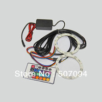 RGB 5050 80mm led angel eyes with controller Multi color changing halo rings for universal cars