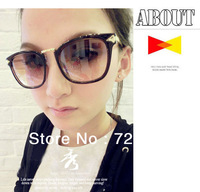 Free Shipping Fashion retro round glasses round sunglasses  women sunglasses Dark Glasses