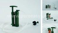 Free Shipping 1 PCS Hiking Camping Soldier Water Filter + 1 PCS Replacement Cartridge