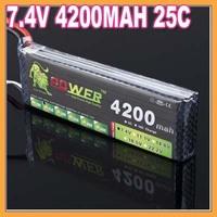 HK Free shipping 7.4V 4200mAh 25C 2S rc heileacaptar battery akkus bateria accumulators accus packs accar batteries