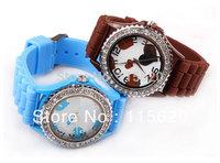 Wholesale 10 colors Silicone Watch GENEVA Fashion Sports quartz wrist Watch men women students wristwatches 300pcs/lot