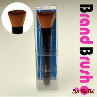 1PCS Professional Black Flat Concealer Foundation Powder Beauty Cosmetic Makeup Wood Brush Retail Bag Free Shipping