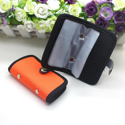 Real Free Shipping Portable CF/SD/SDHC/MS/DS Memory Card Storage Carrying Pouch Case Holder Wallet(China (Mainland))