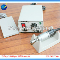 STRONG 90 + E102S E-Type Motor & Handpiece Electric Micromotor 35000 RPM for Laboratory, Industry, Beauty Polishing