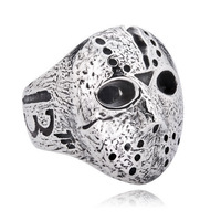 Jason mask accessories fashion male personality titanium ring The mask ring Free shipping