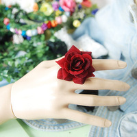 Rose ring finger ring flower diameter 4cm ring adjustable size