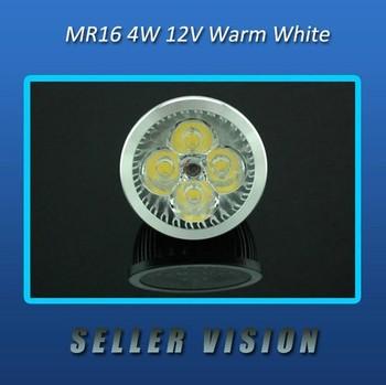New Brand MR16 LED Warm White 12V 4W 4x1W DOWN LIGHT BULB DIY