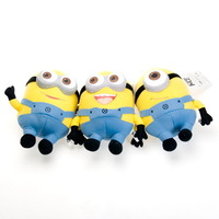 Minions 25CM 3D Despicable ME Movie Plush Toy 9Inch Minion Jorge Stewart Dave NWT with tags stuffed animals & plush Gift