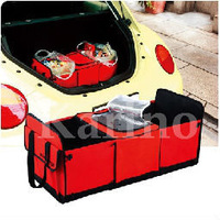 Free Shipping Wholesale Foldable Trunk Storage Box,  Fabric Car Boot Tools Sundries Storage Box Thermal Bag