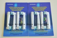 Freeshipping 400pcs/lot EB17-4 SB-17A electric toothbrush head heads 4 soft bristles (1pack=4pcs)