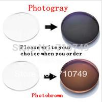 Filling a prescription 1.56 Photochromic quality CR-39 resin eyeglasses changable lenses for myopia/hyperopia with free shipping